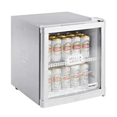 Husky beer fridge with white finish